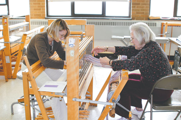 Weaving room at the Art Studio