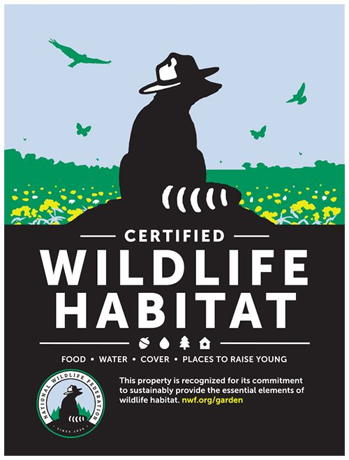 Rockwood Park is a Certified Wildlife Habitat Certified by the National Wildlife Federation