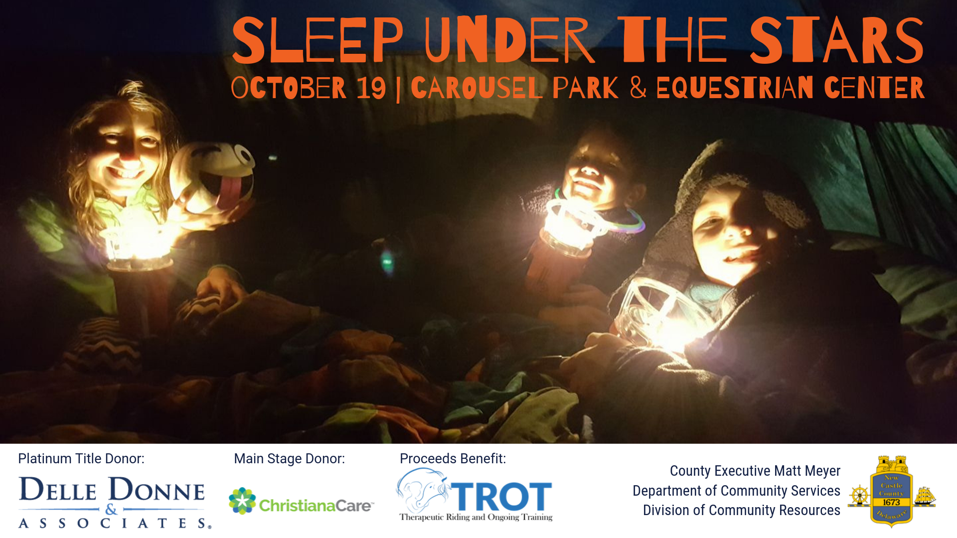 Sleep Under the Stars at Carousel Park October 19
