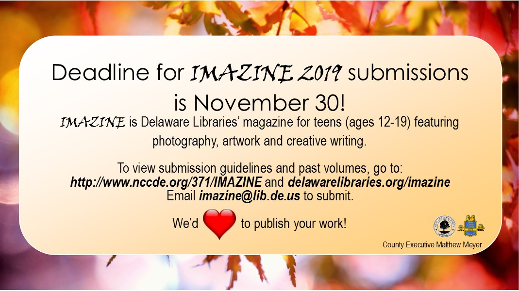 IMAZINE call for submissions fall 2019 Happenings