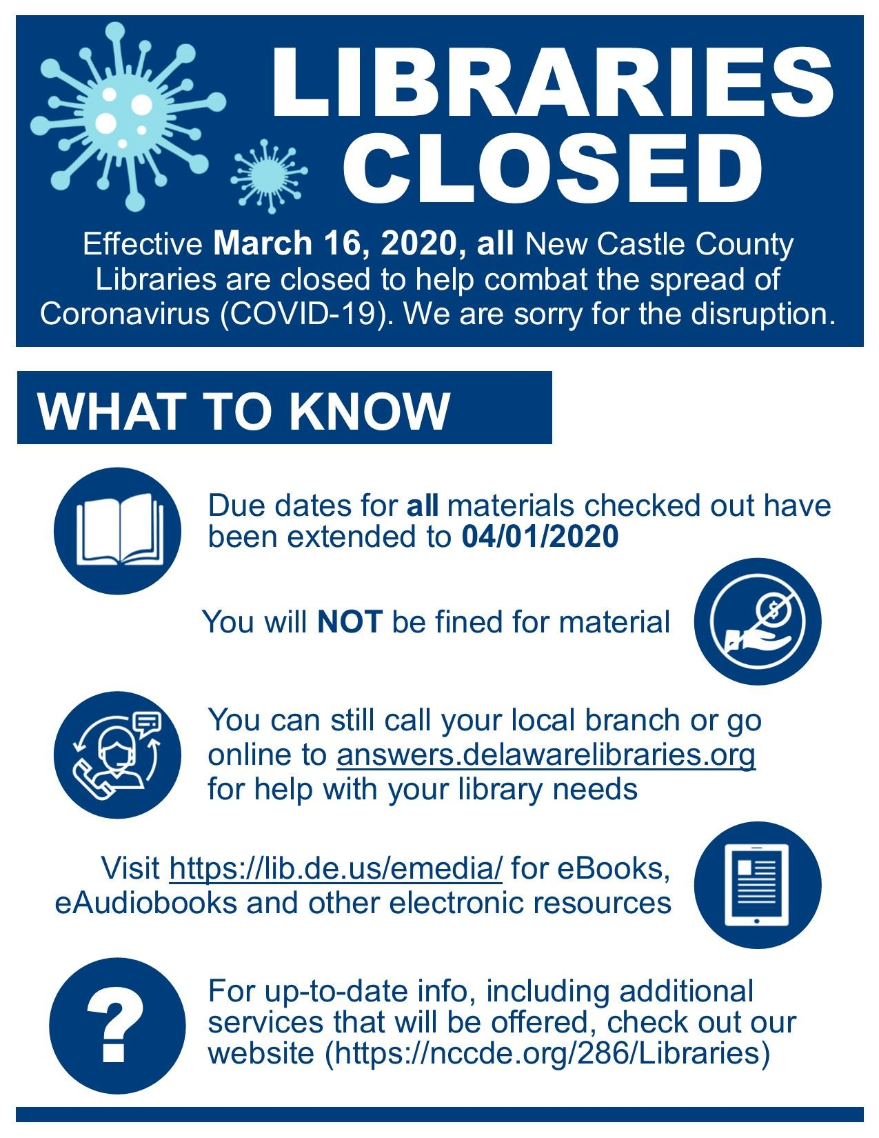 COVID-19 Closure Flyer revised 1.2