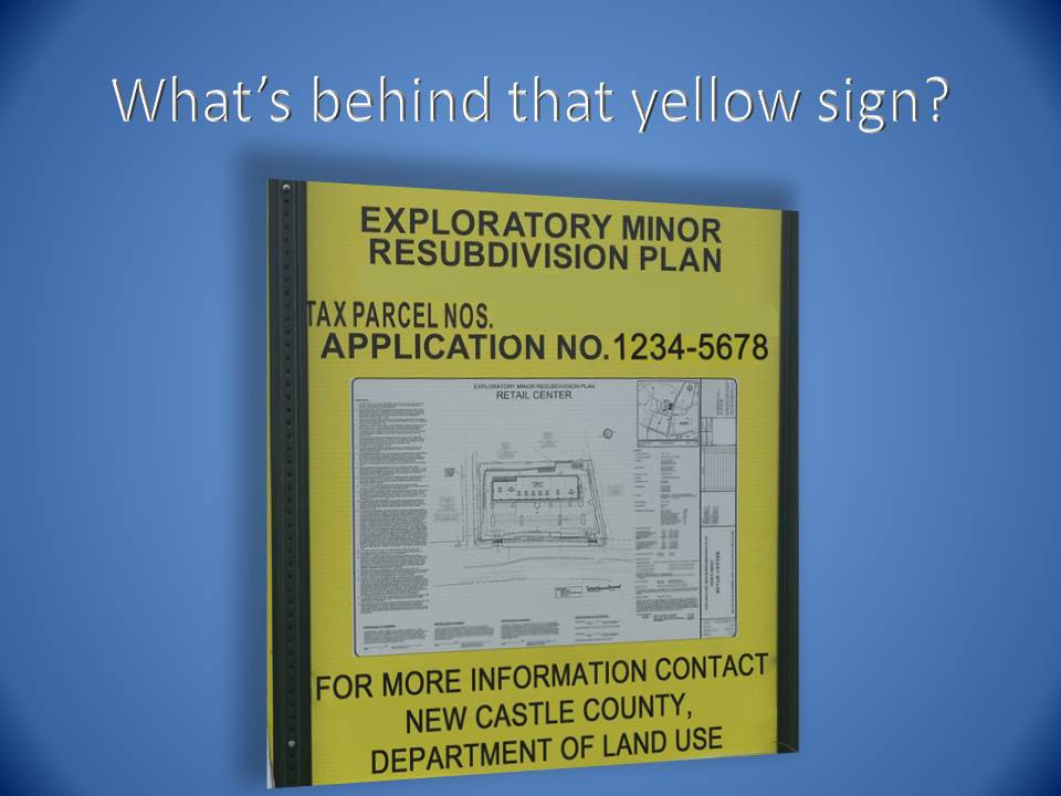 What's Behind that Yellow Sign?
