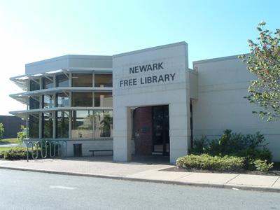 Front of Newark Library building